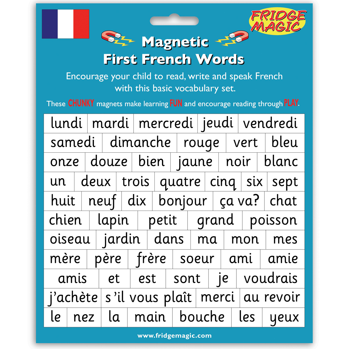 Magnetic French Words Craft Amp Educational Mulberry Bush