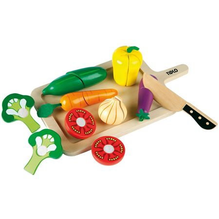 Picture of Wooden Cutting Vegetables & Tray
