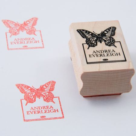 Picture of Named Rubber Stamp - Butterfly
