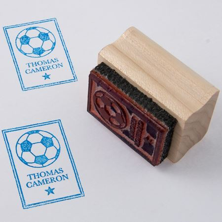 Picture of Named Rubber Stamp - Football
