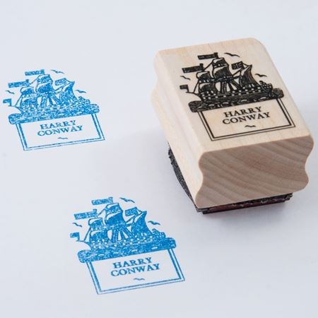 Picture of Named Rubber Stamp - Ship