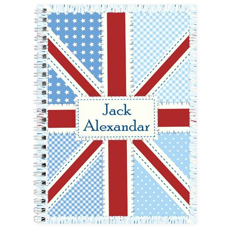 Picture of Patchwork Union Jack Notebook - Personalised