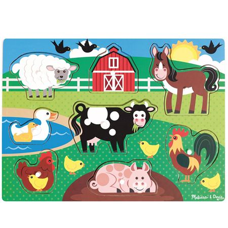 Picture of Farm Animal Peg Puzzle