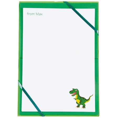 Picture of Named Notepaper - Dinosaur