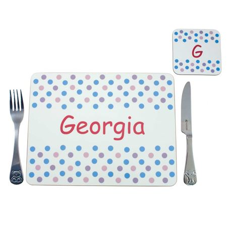 Picture of Placemat - Pastel Spotty