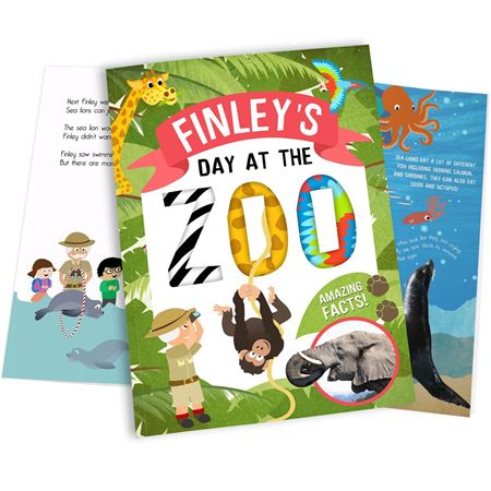 Picture of My Day at the Zoo Personalised Book