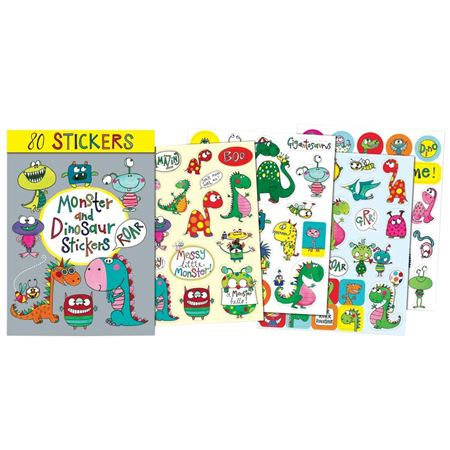 Picture of 80 Monster & Dinosaurs Stickers Book