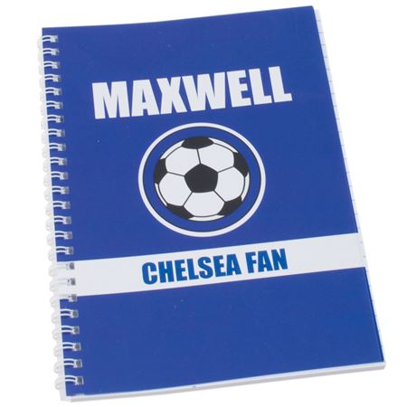 Picture of Personalised Blue Football Fan A5 Notebook