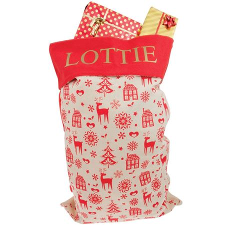Picture of Personalised Christmas Sack