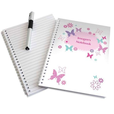 Picture of Personalised Butterfly A5 Notebook