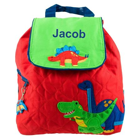 Personalised Dinosaur Quilted Backpack 528c556614049