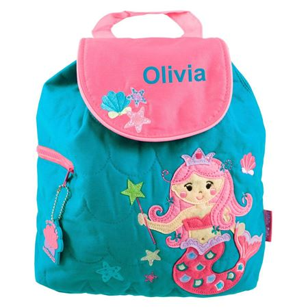 Picture of Personalised Mermaid Quilted Backpack