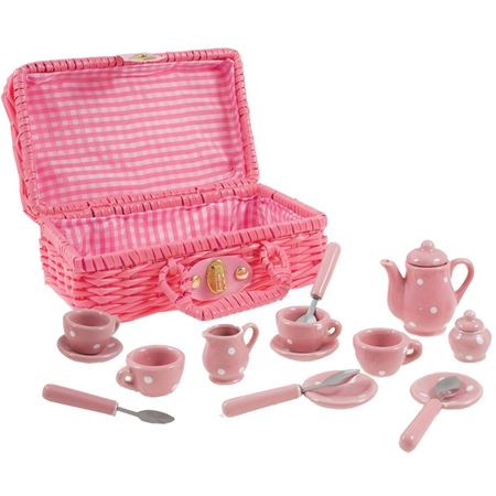 Picture of Porcelain Spotty Tea Party Set