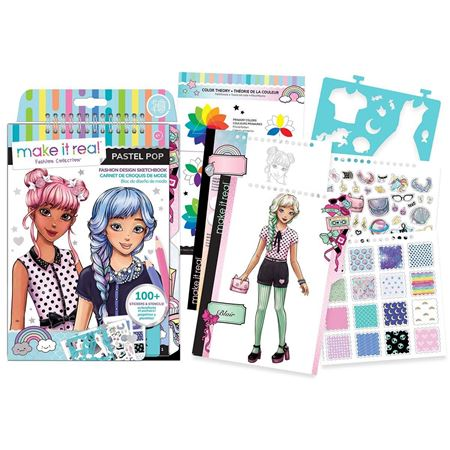 Picture of Fashion Design Sketchbook - Pastel Pop