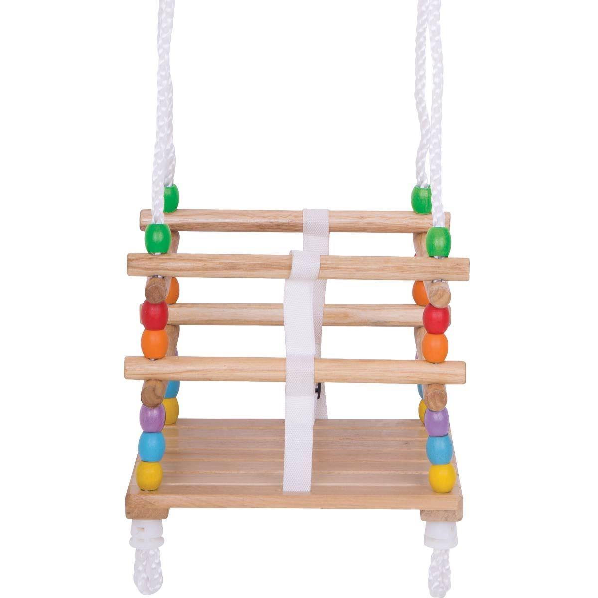 Wooden Toddler Cradle Swing Bigjigs Bj771