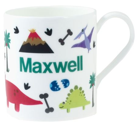 Picture of Personalised China Mug - Dinosaurs & Volcanoes
