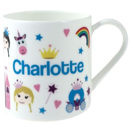 Picture of Personalised China Mug - Princess & Castle