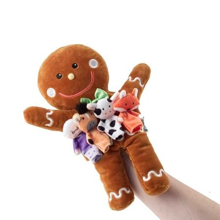 Picture of Gingerbread Man Hand & Finger Puppet Set