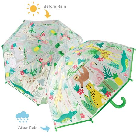 Picture of Jungle Animal Colour Changing Umbrella