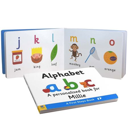 Picture of First Steps Alphabet Personalised Board Book