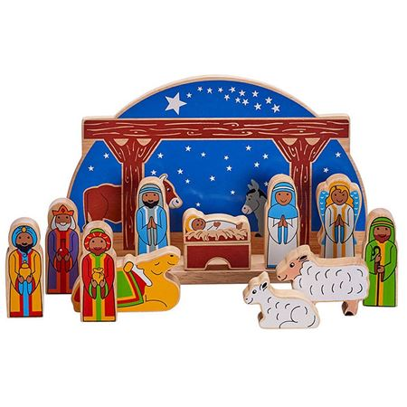 Picture of Deluxe Starry Night Nativity Set