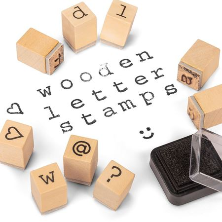 Picture of Wooden Letter Stamps