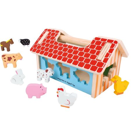 Picture of Farmhouse Shape Sorter