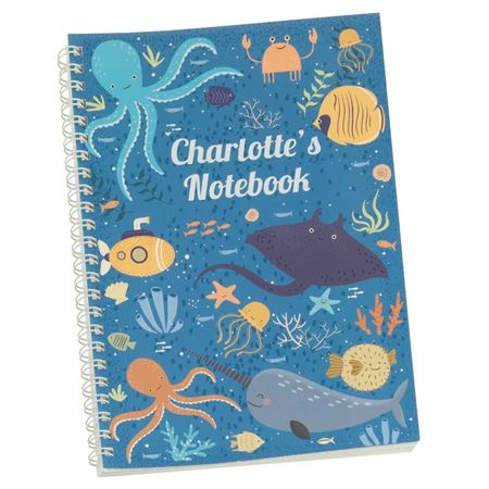 Picture of Ocean Life Personalised Notebook