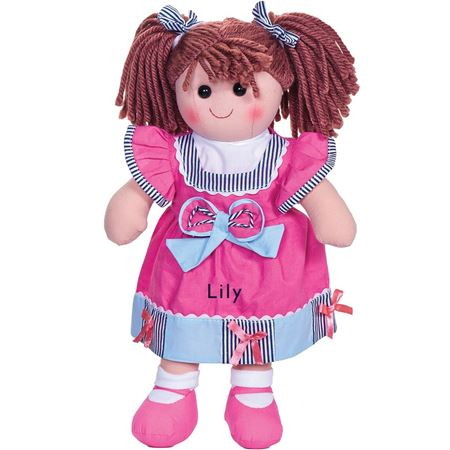 Picture of Personalised Rag Doll - Dark Pink
