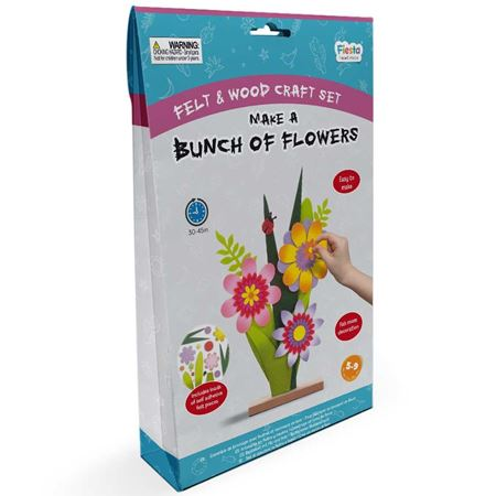 Picture of Wood & Felt Kit - Bunch of Flowers