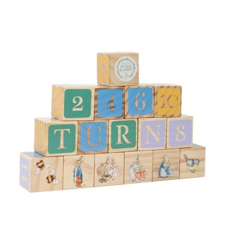 Picture of Peter Rabbit Wooden Alphabet Blocks